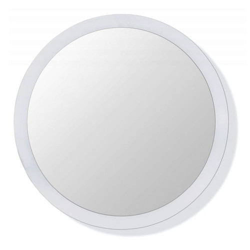 HEWI Round Float Glass Mirror with Painted Frame - 477.01.010 - Default