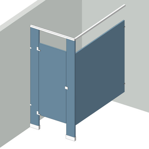 Bathroom Partitions - 1 Stall In Corner Left Hand
