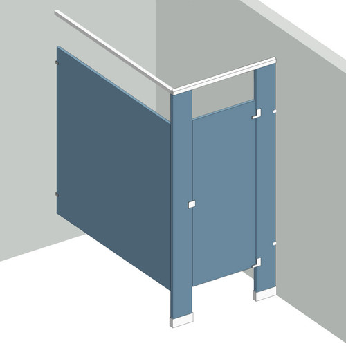 Bathroom Partitions - 1 Stall In Corner Right Hand