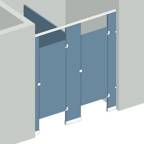 Bathroom Partitions - 2 Stalls Between Walls Right Hand ...