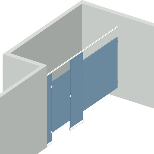 Bathroom Partitions - 1 Stall Alcove Left Hand - 1 Stall