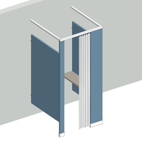 Dressing Compartment - Free Standing - Right Hand - 1 Stall Curtains
