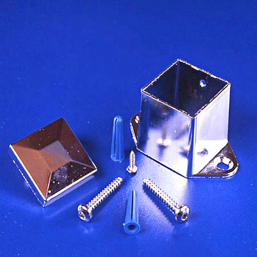 Global Partitions Square Aluminum Headrail Post Mounting Kit