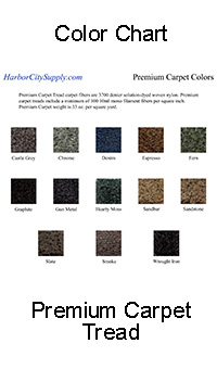 Premium Carpet Color Chart