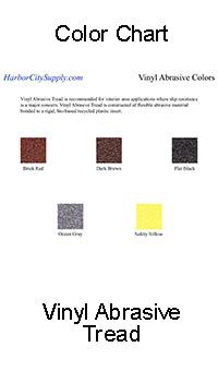Vinyl Abrasive Color Chart