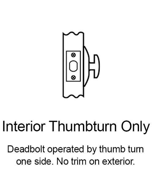 Interior Thumbturn Only