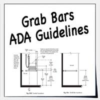 ADA grab bars for shower and bath tub