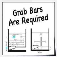Grab bars required