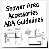 ADA accessories for shower and bathtubs