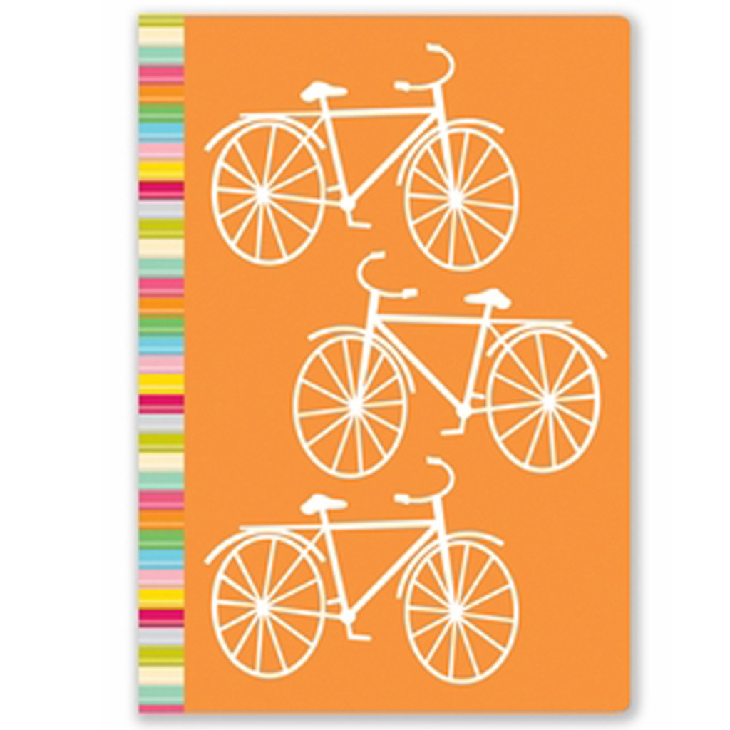 Orange Bike Lined Journal