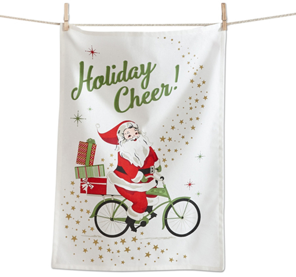 Holiday Cheer Santa Bike Towel