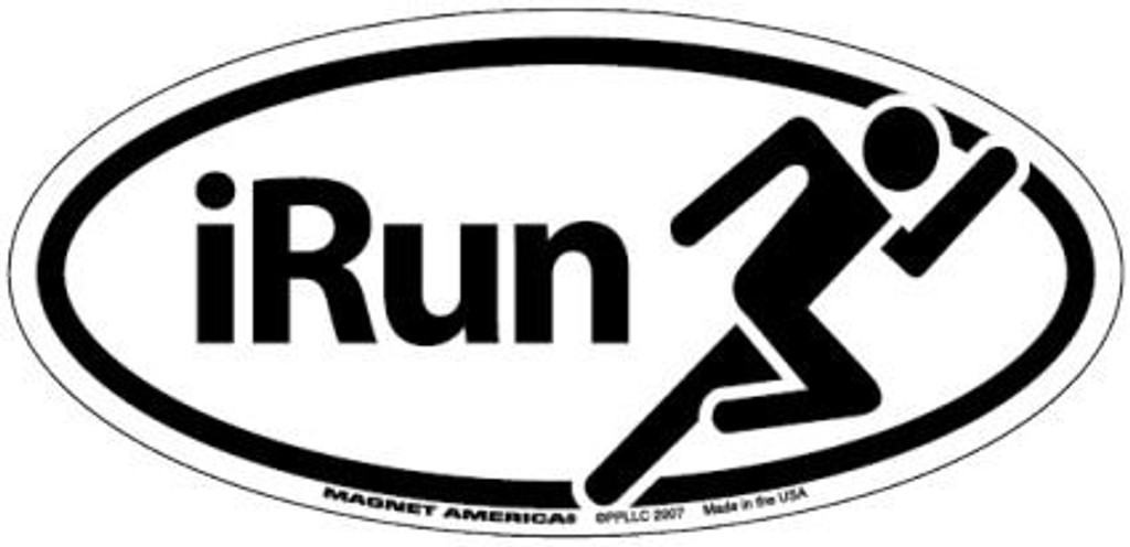 IRun Oval Magnet or Decal