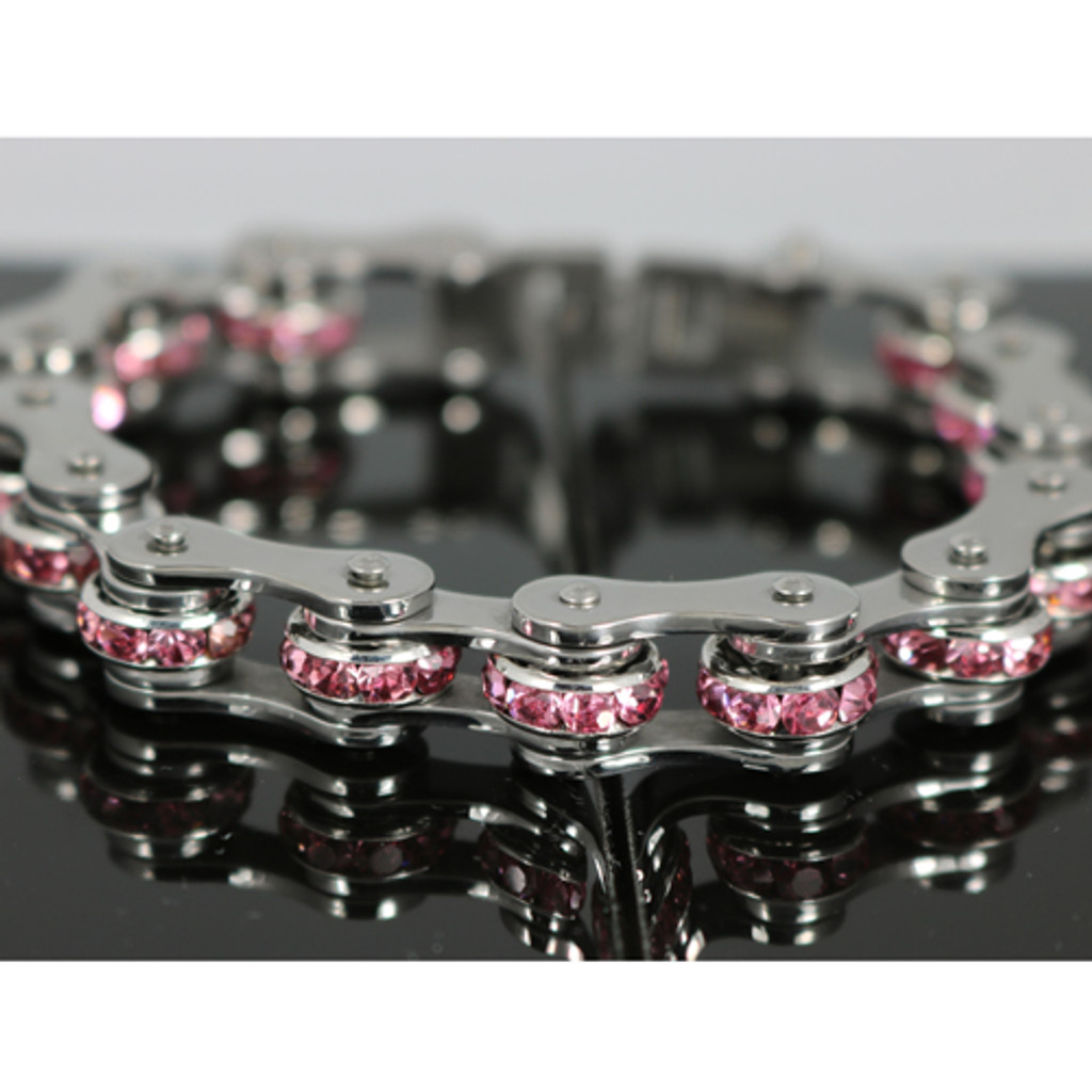 Sparkle Stainless Bicycle Chain Bracelet