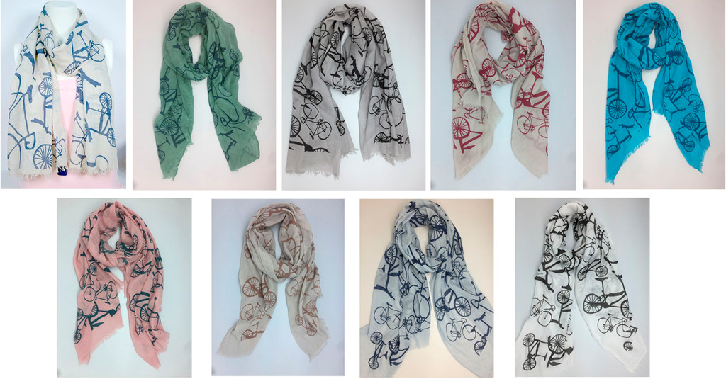 Colorful Bicycle Design scarf