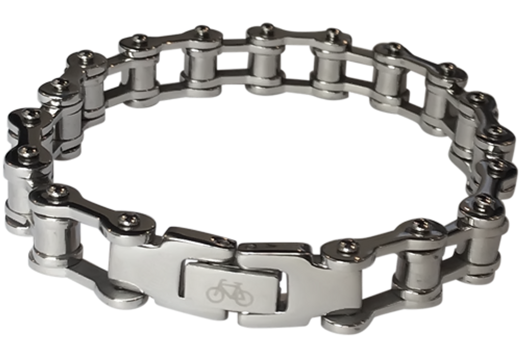 Thin Stainless Steel Bicycle Chain Bracelet