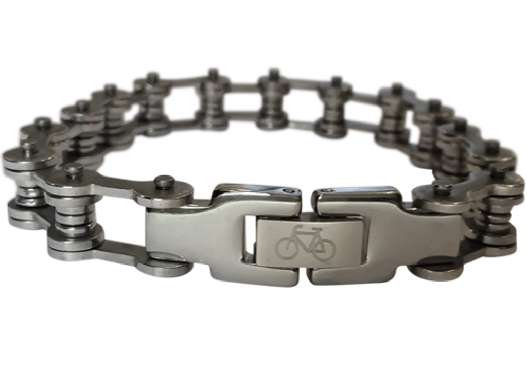 Polished Stainless Steel Bicycle Chain Bracelet