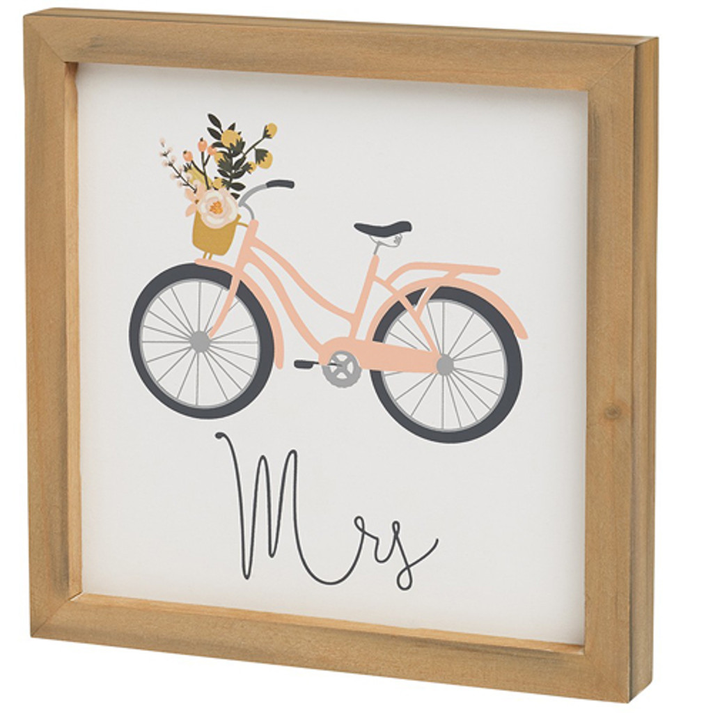 Mr and Mrs Bike Box Sign Set