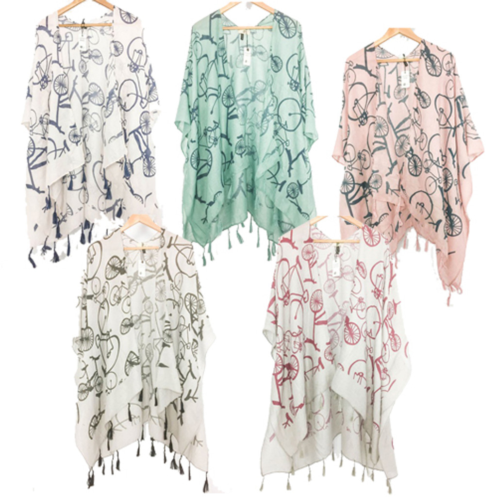 Bicycle Cotton Kimono Various Colors