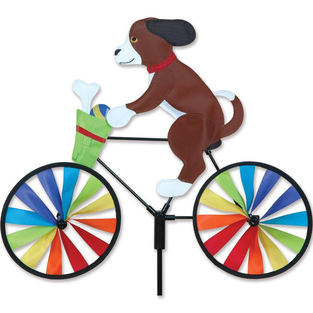 Puppy Cyclist Yard Spinner