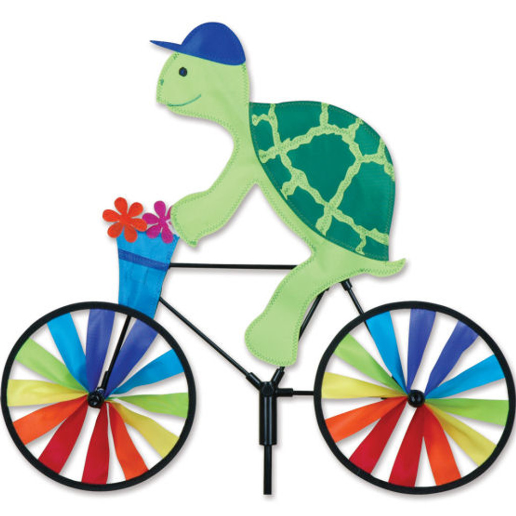Turtle Cyclist Yard Spinner