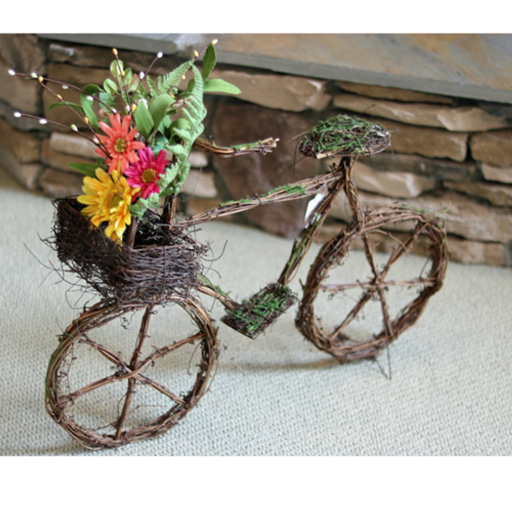 Twig Bicycle with Bouquet
