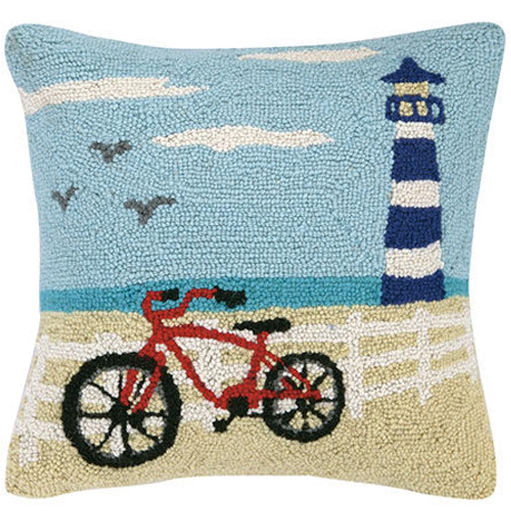 Coastal Bicycle Hook Pillow