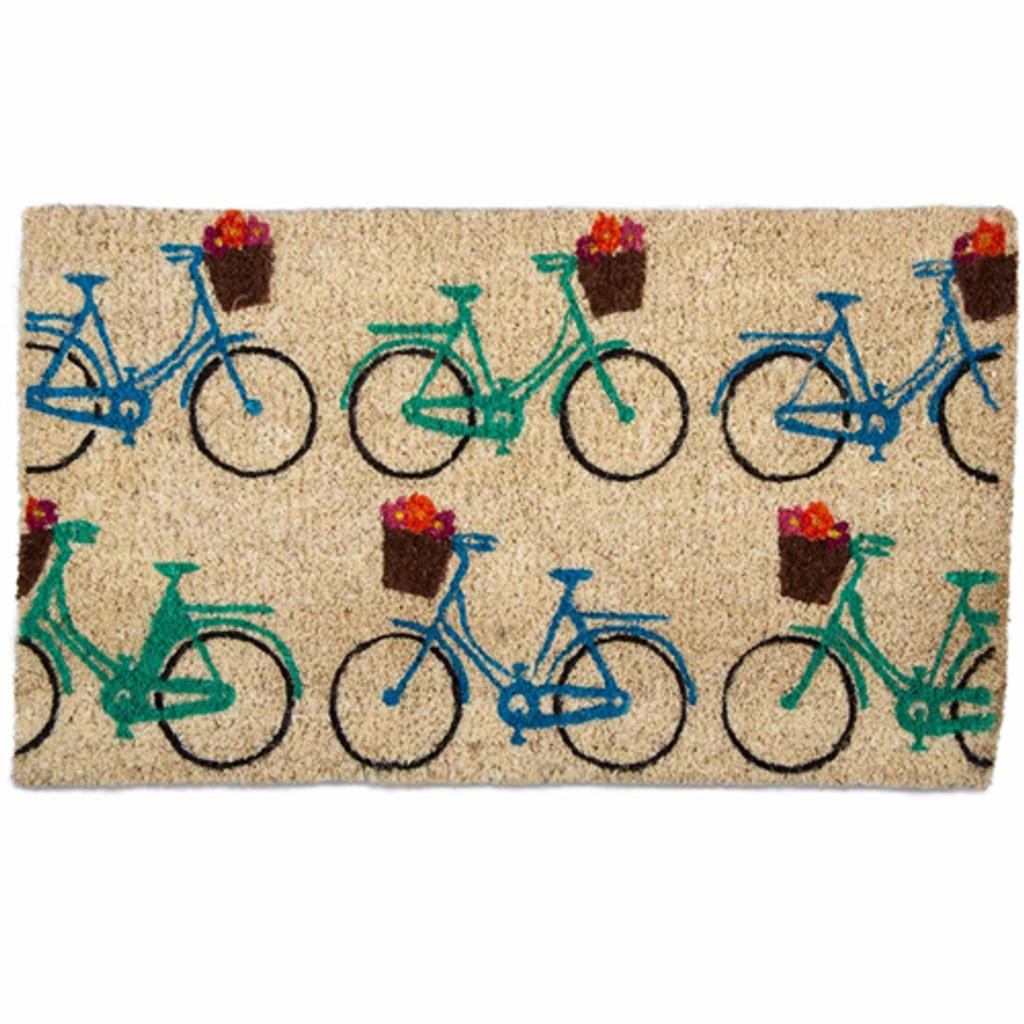 Multi Colored Bicycle Doormat