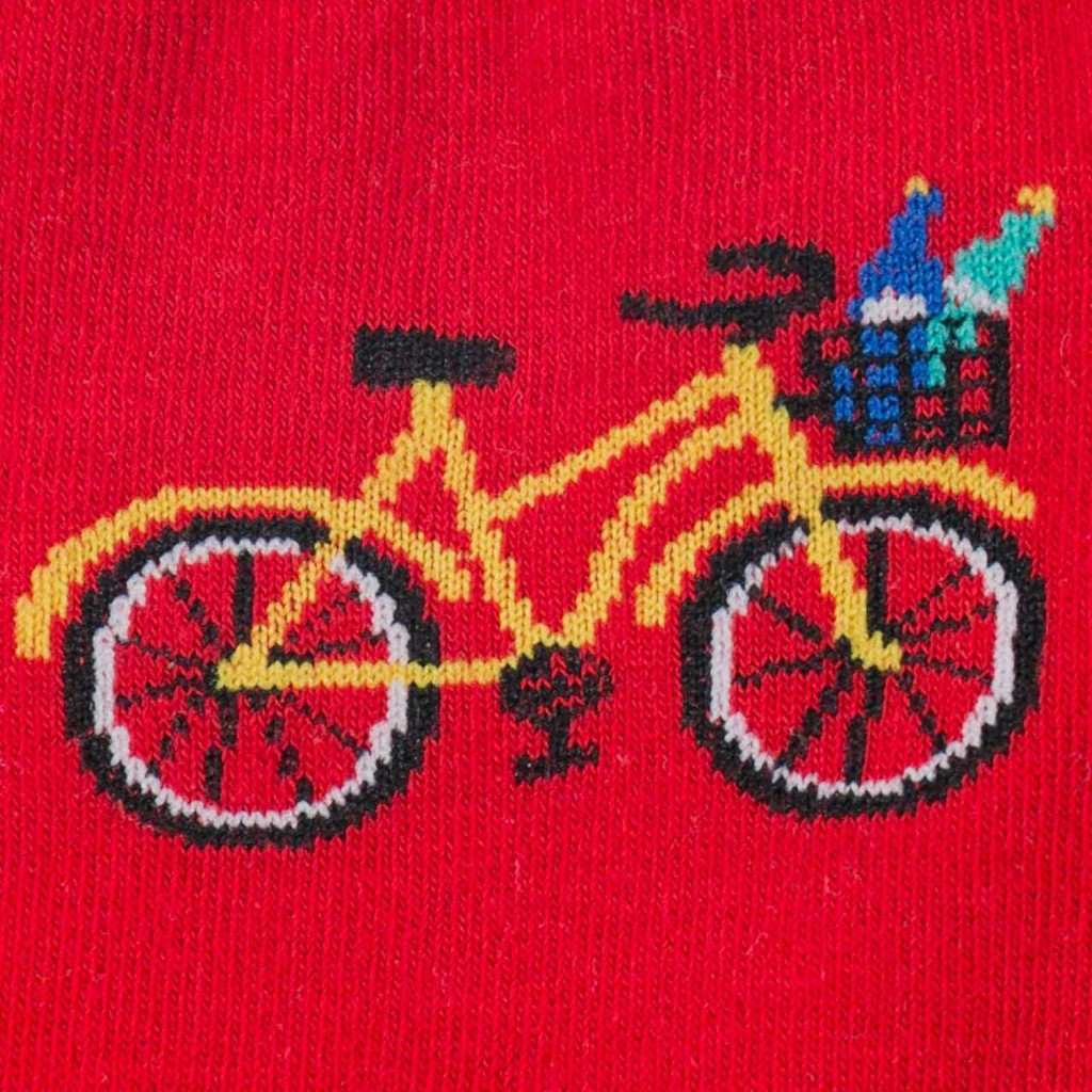 Red Knee High colorful bike design