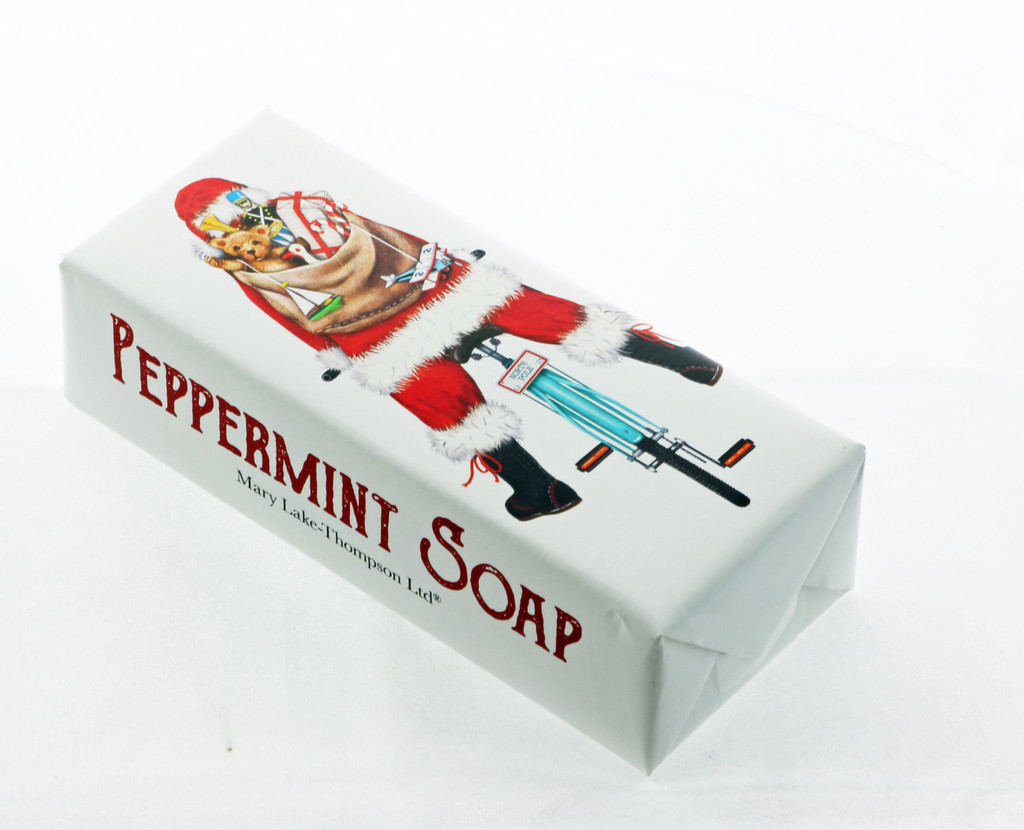 Bicycle Santa Peppermint Soap
