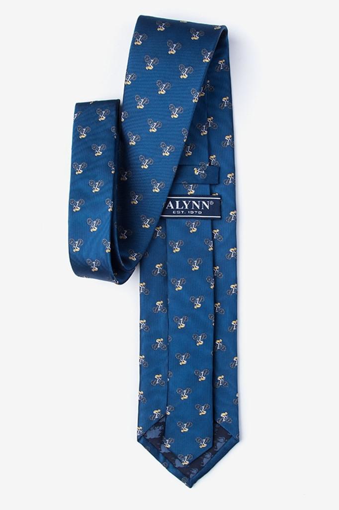 Blue Silk Bicycle Tie