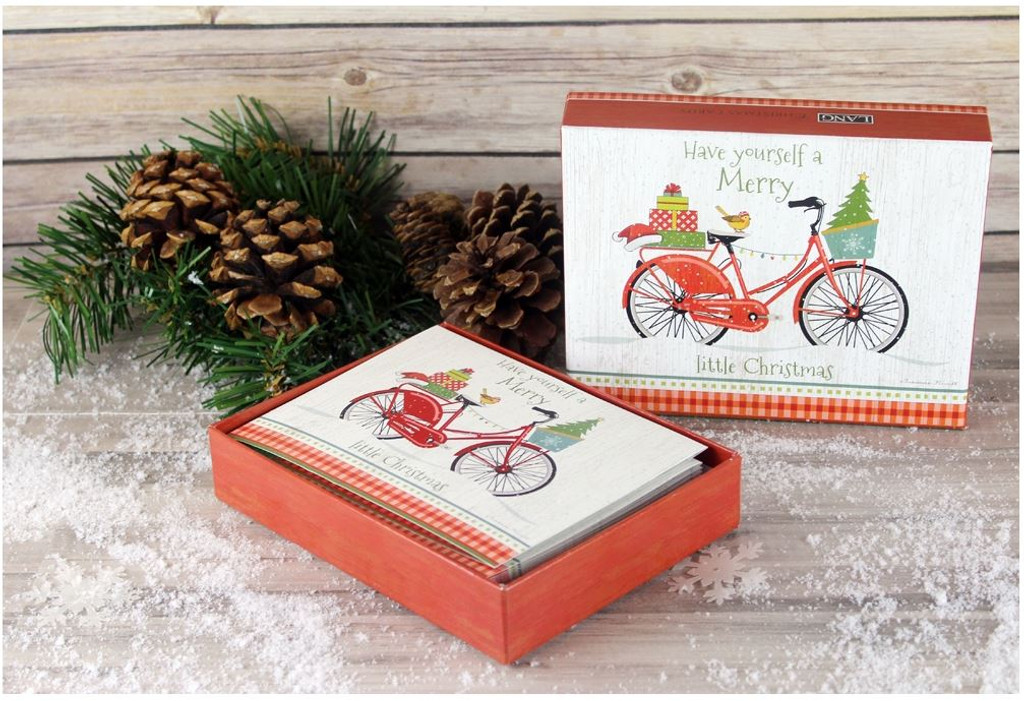 Christmas Bike Boxed Christmas Cards - Bicycle Gifts