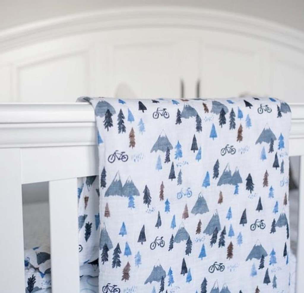 Mountain Ride  Baby Swaddle Blanket