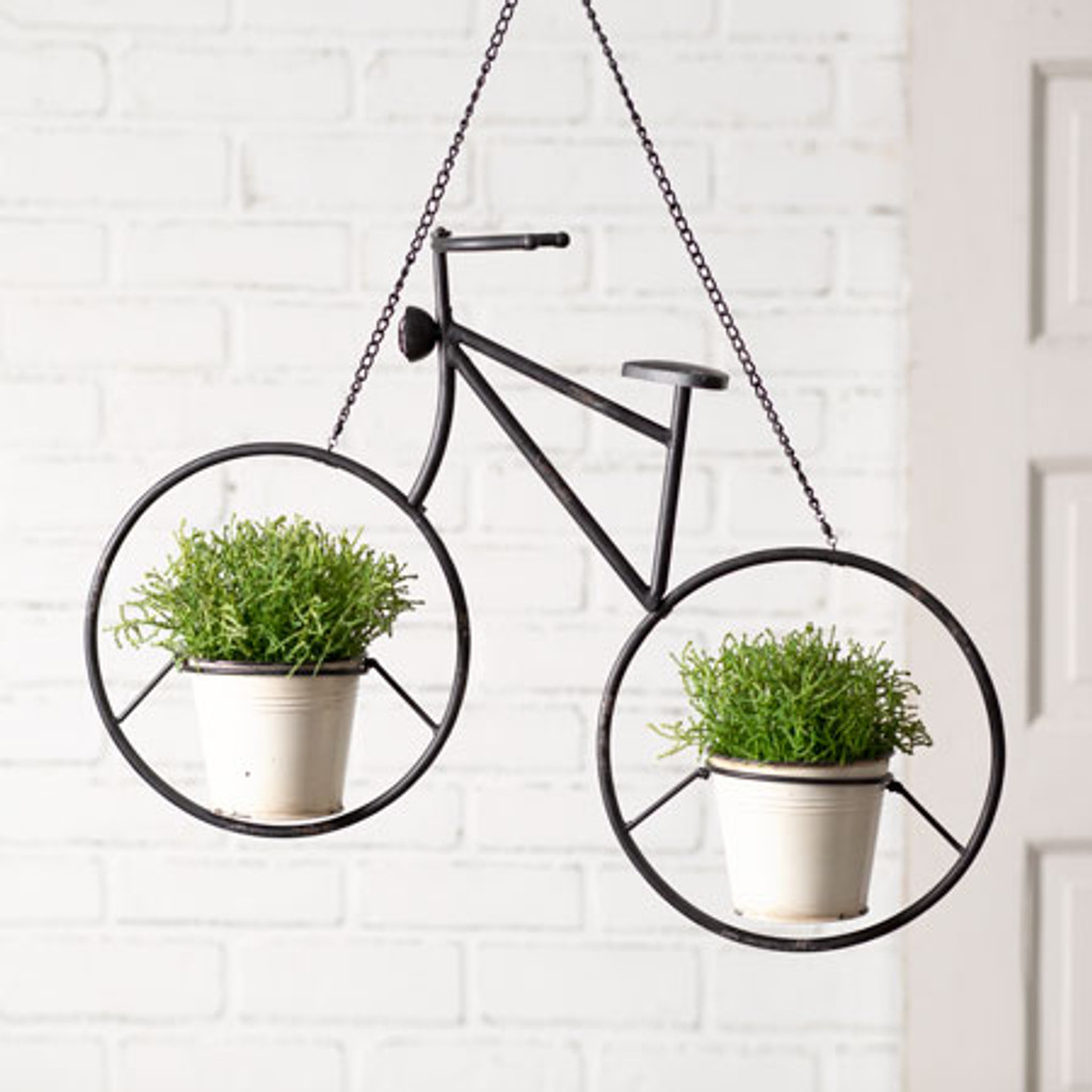 Metal Hanging Bicycle Planter