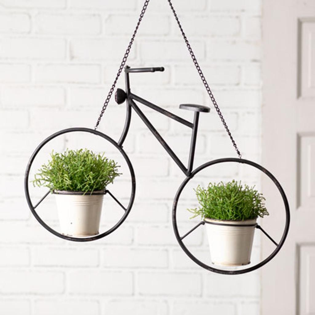 Metal Hanging Bicycle Planter