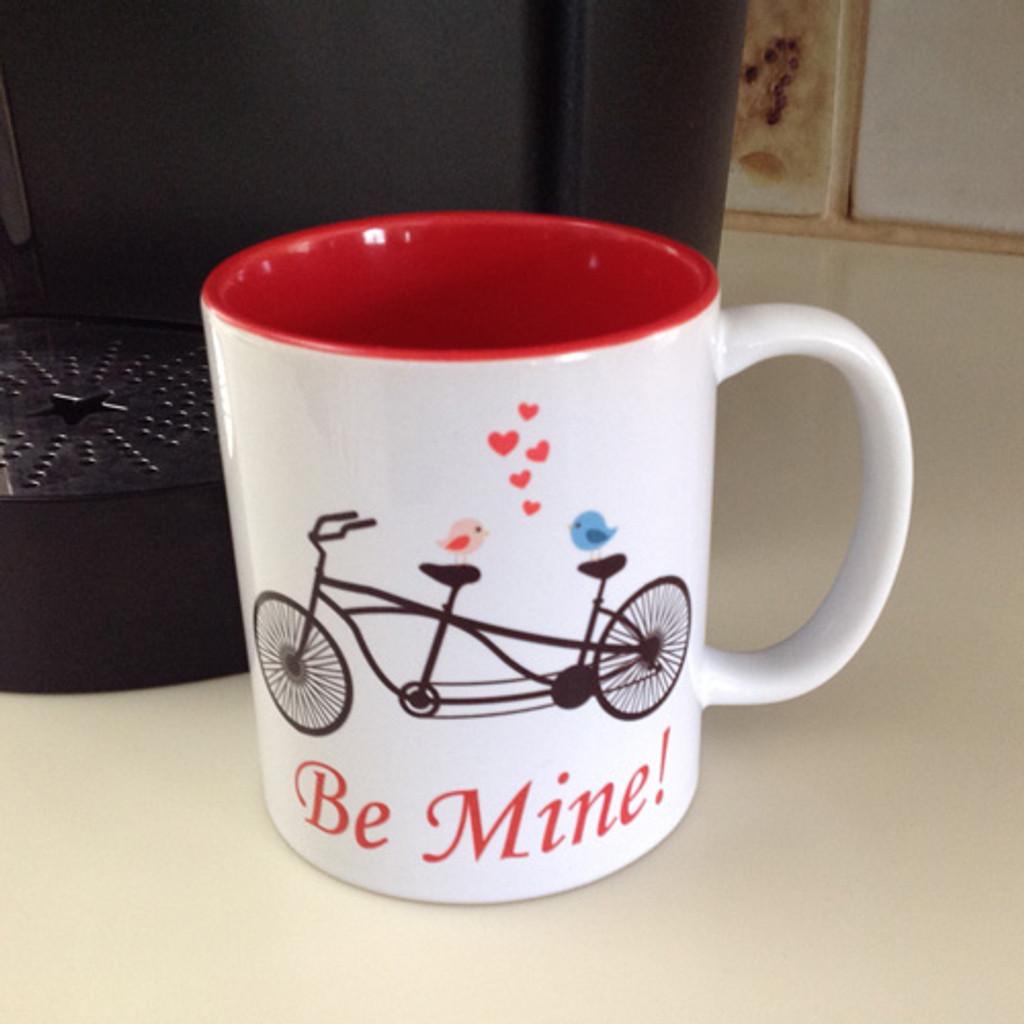 Be Mine Bicycle Mug