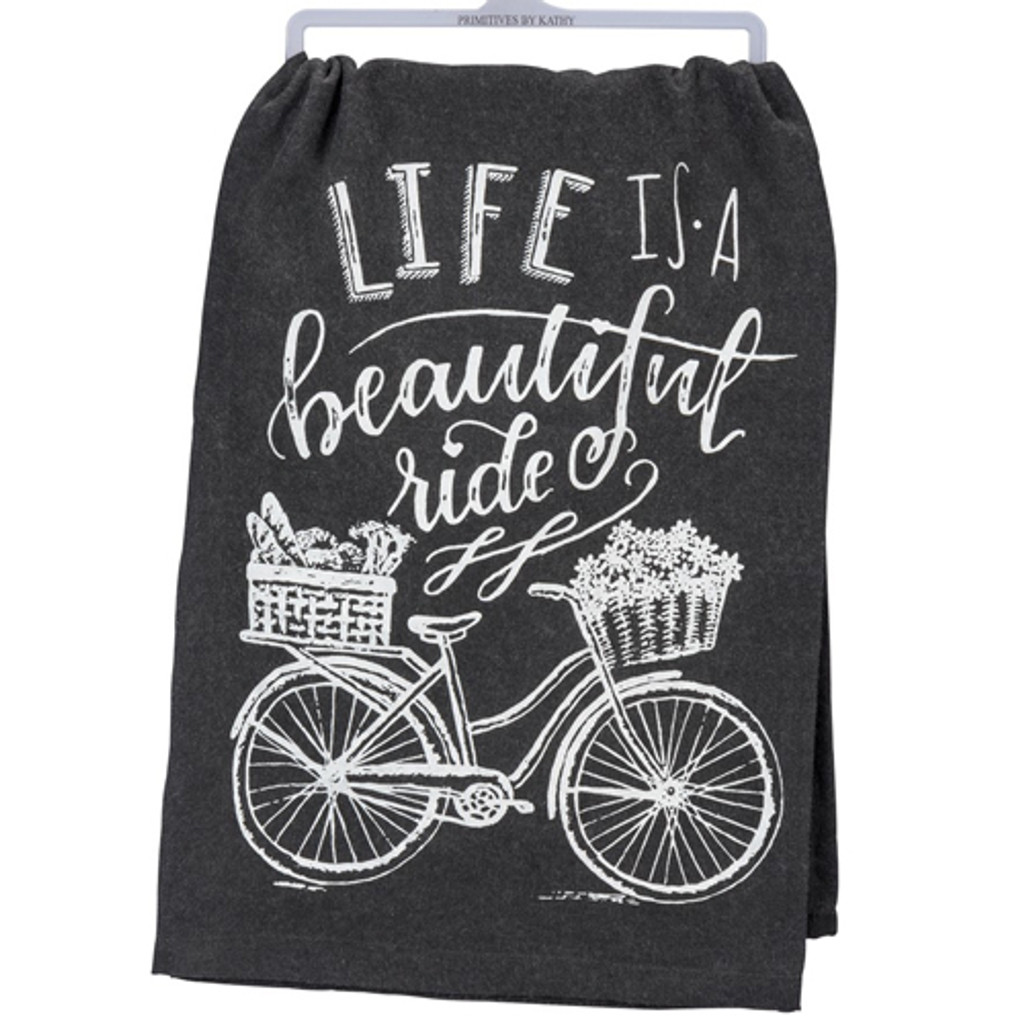 Beautiful Ride Chalkboard Dishtowel