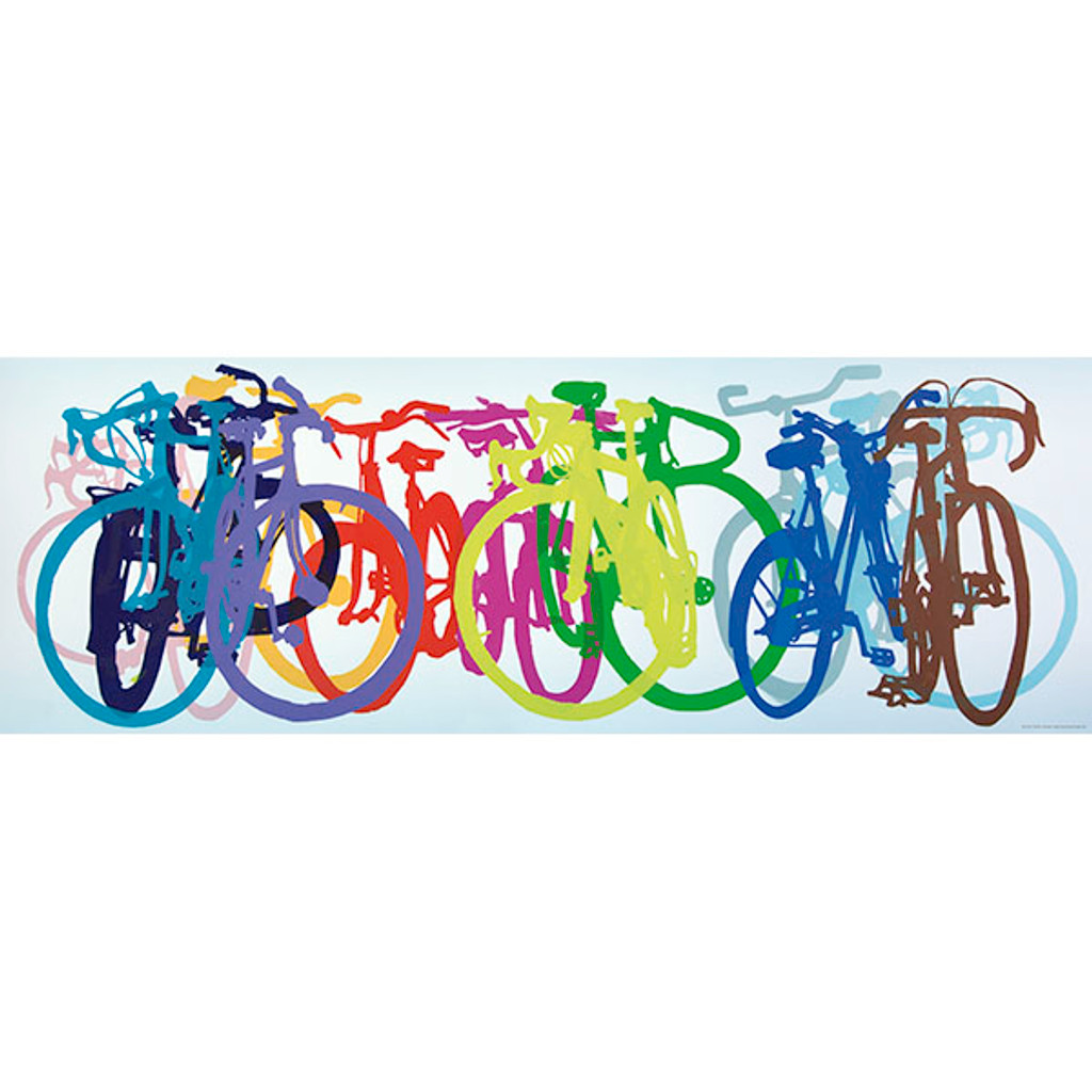 Colorful Row Bicycle Puzzle