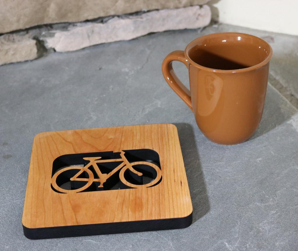 Bold Bike Kitchen Wood Trivet