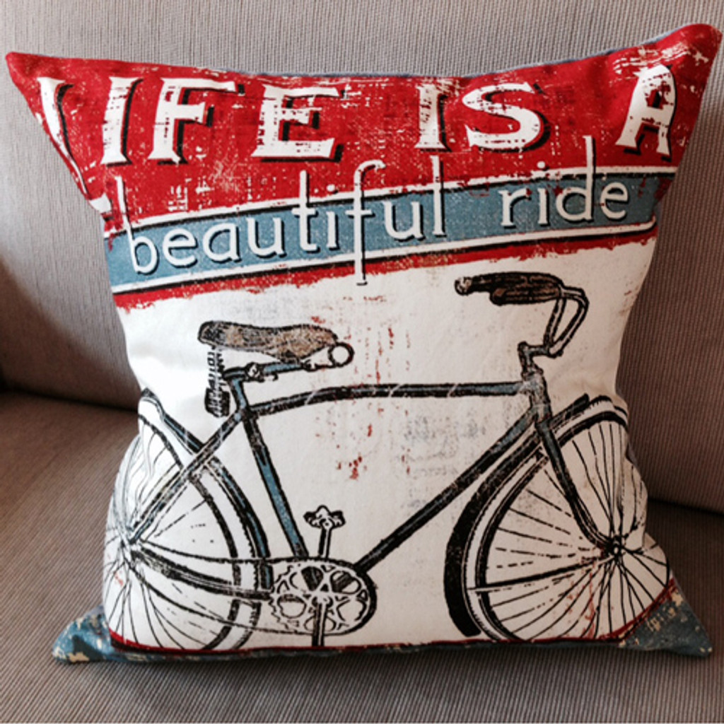 Vintage Beautiful Ride Pillow