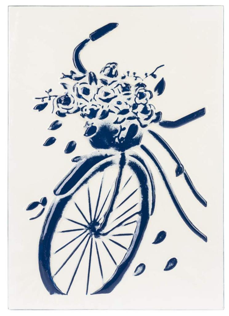 Blue & White Embossed Enamel Wall Art