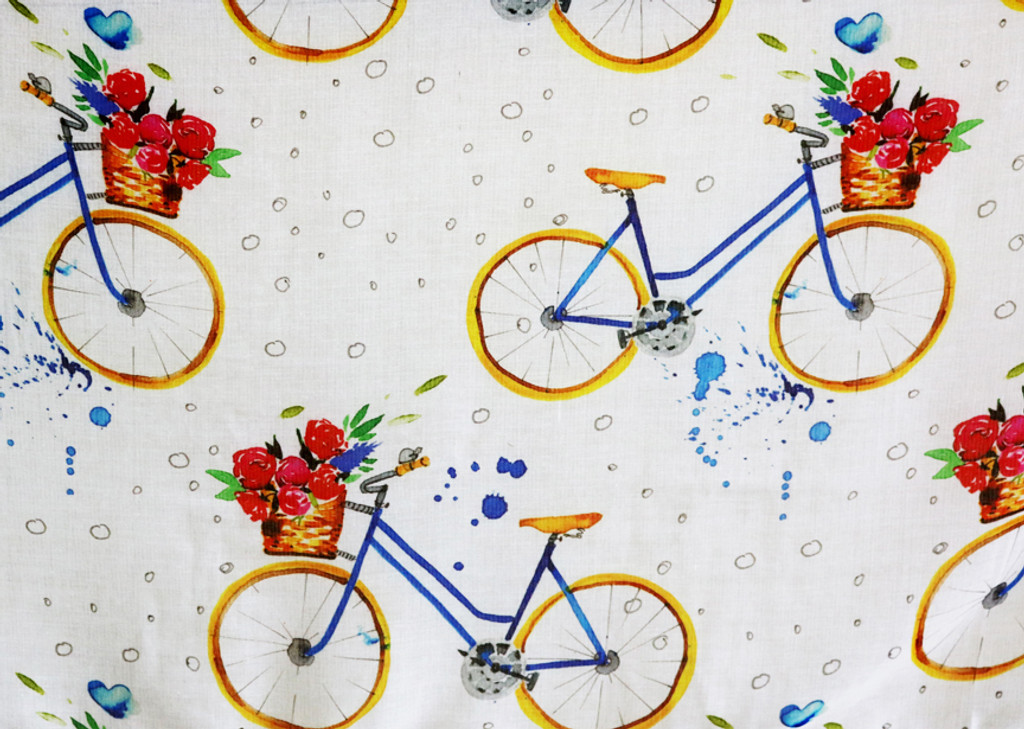 Bicycle Patterned Scarf