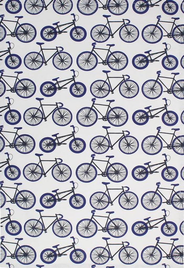 Navy Bikes Oversized Cotton Kitchen Towel
