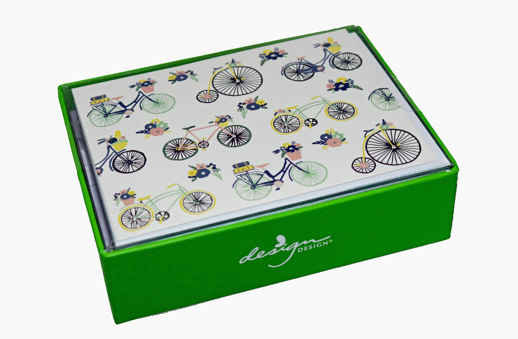Bicycle Collage Boxed Notecards