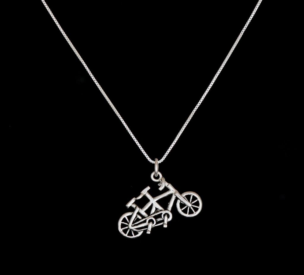 Sterling Silver Tandem Necklace