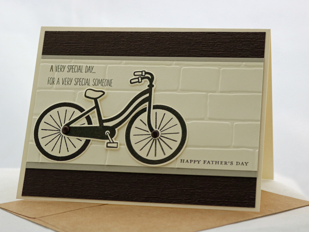 Classy Fathers Day Bicycle Card