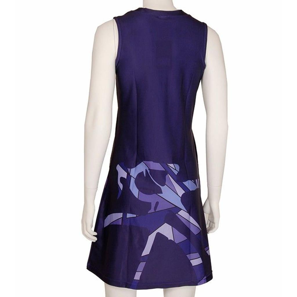 Blue Purple Bicycle Sport Dress