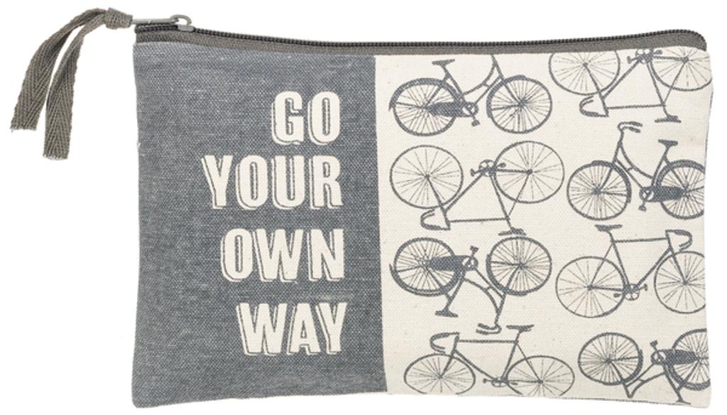 Bicycle Saying Zipper Bag 2 versions