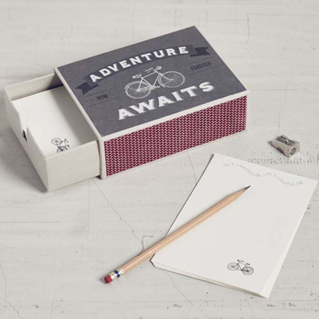 Adventure Bicycle Matchbox Stationery