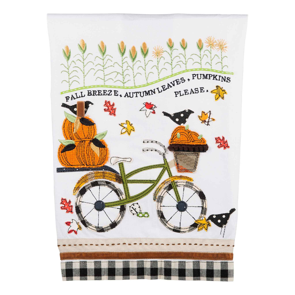 Fall Ride Applique Bicycle Towel