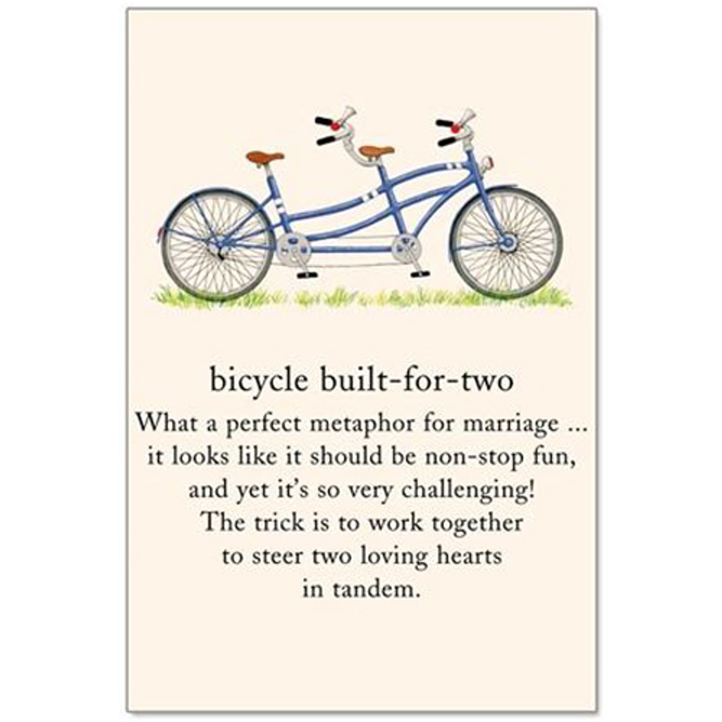 Anniversary Bicycle Built for Two Card